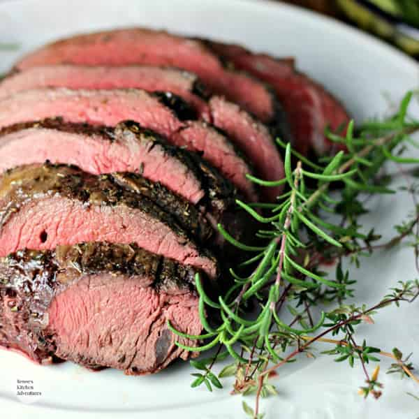 Garlic Herb Beef Tenderloin Roast with Creamy Horseradish Sauce